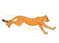 cheetah running clipart
